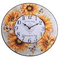 Nástenné hodiny Slnečnice, 34 cm