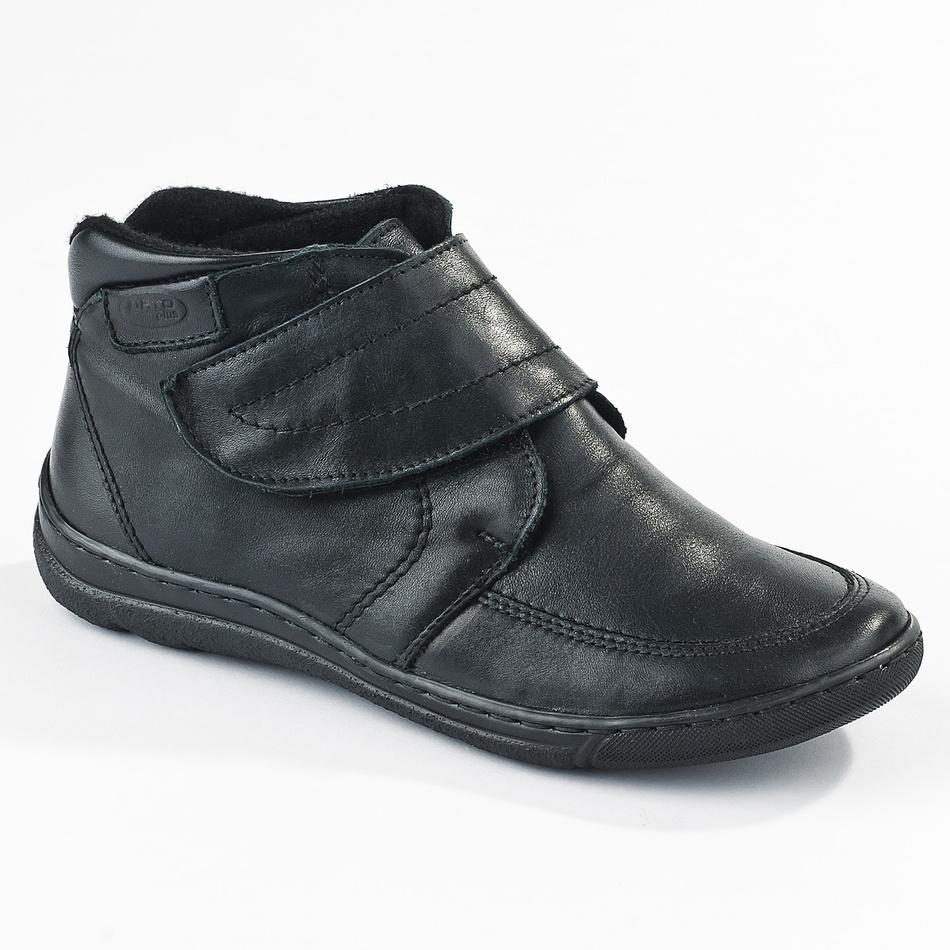 Dámská zimní obuv na suchý zip Orto, černá, 40
