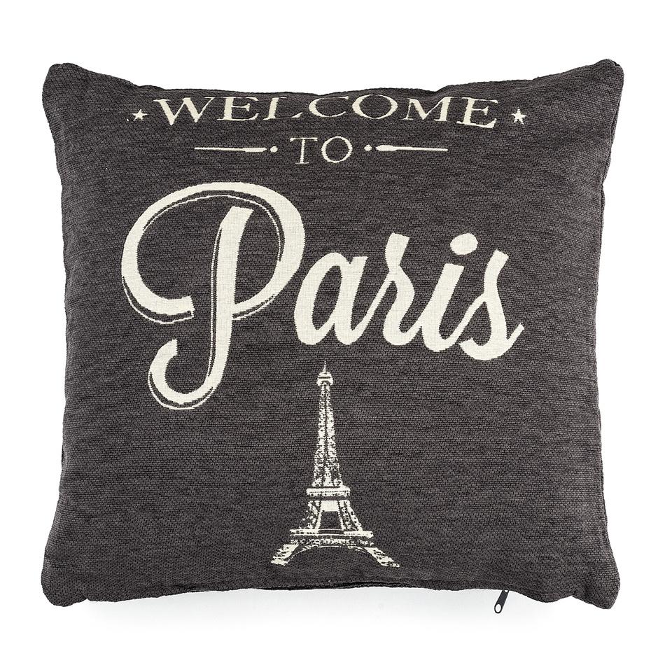 Dakls Obliečka na vankúšik Paris čierna, 40 x 40 cm,