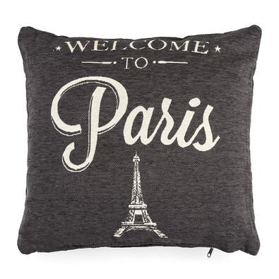 Obliečka na vankúšik Paris čierna, 40 x 40 cm