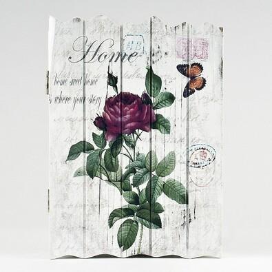 Skříňka na klíče růže