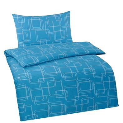 Povlečení Wendy modrá mikro krep, 140x200, 70x90 c