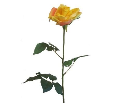 Umělá květina růže žlutá