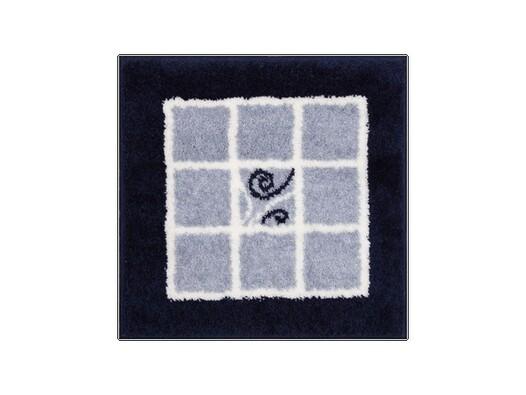 Koupelnová předložka Grund MERIDA modrá, 60 x 60 cm