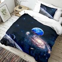Lenjerie de pat din bumbac Univers 3D, 140 x 200 cm, 70 x 90 cm