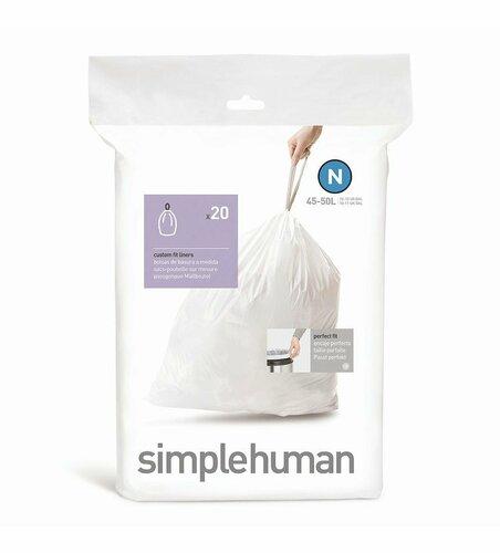 Simplehuman Vrecia do odpadkového koša N 45-50 l, ,