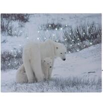 LED Obraz na płótnie Bears in winter, 40 x 30 cm