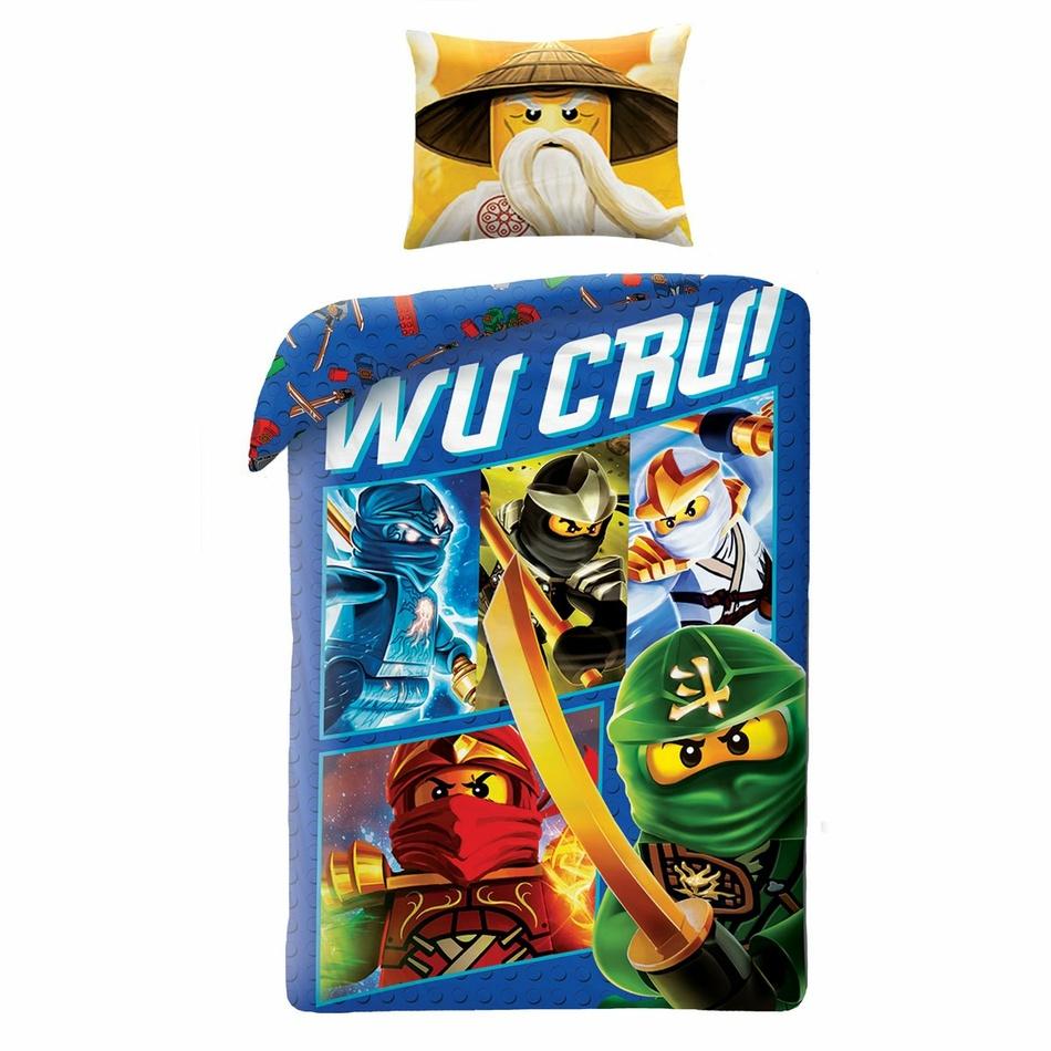 Dětské bavlněné povlečení Lego Wu Cru!, 140 x 200 cm, 70 x 90 cm