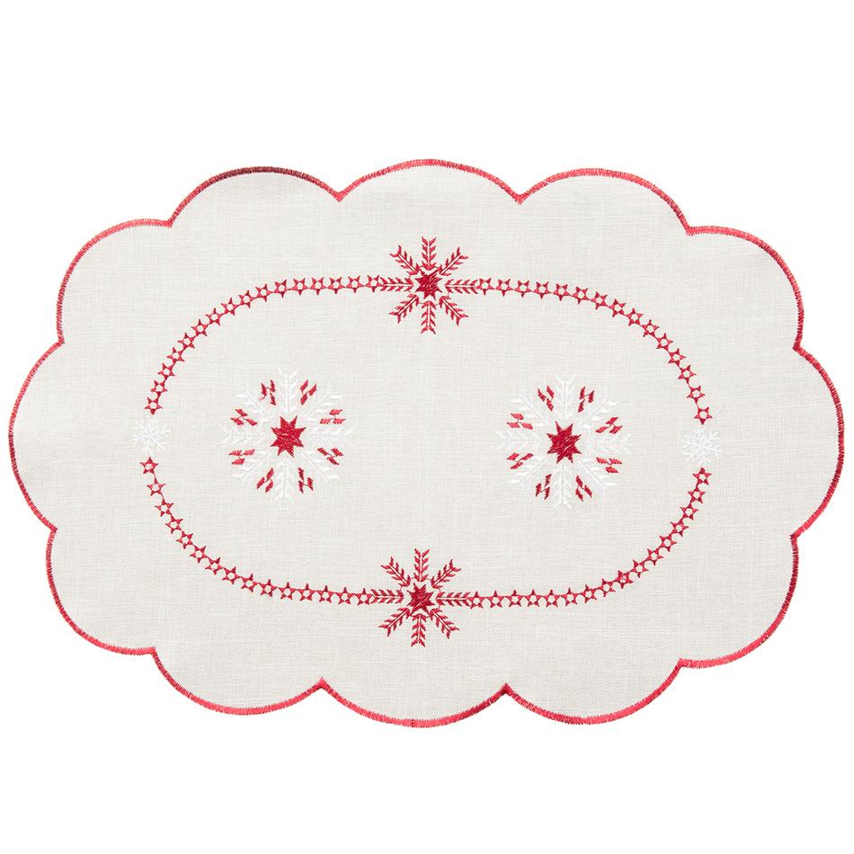 Forbyt Vánoční ubrus Vločky, 30 x 45 cm, 30 x 45 cm