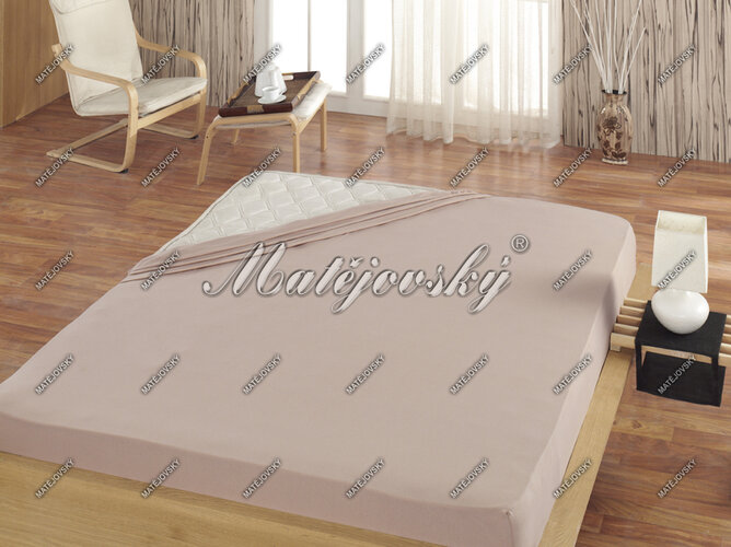 Matějovský prestieradlo Jersey svetlo hnedá, 100 x 200 cm