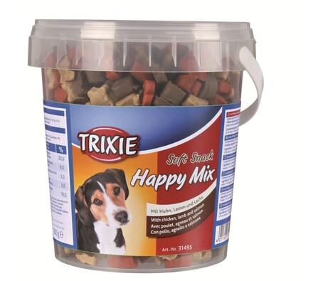 Trixie Soft Snack Happy MIX kuře, jehněčí, losos 5