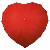 Deštník ve tvaru srdce červená