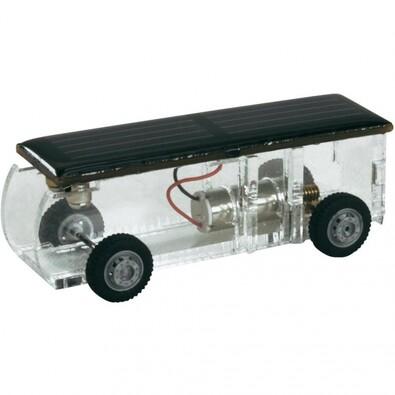 Solární stavebnice - autobus, transparentní