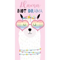 Lama Not Drama törölköző, 70 x 140 cm