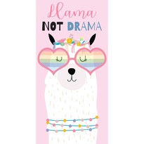 Prosop Lama Not Drama, 70 x 140 cm