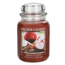 Village Candle Vonná sviečka Jablko a škorica - Apple Cinnamon, 645 g