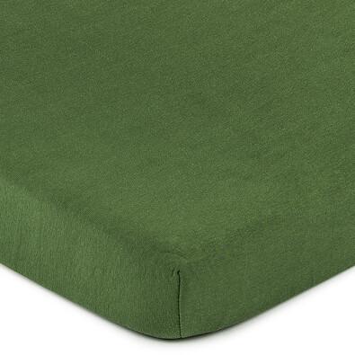 Cearşaf 4Home jersey, verde măsliniu, 160 x 200 cm