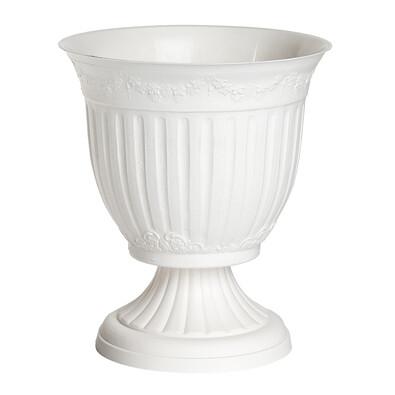 Venkovní květináč Omega bílá, 17 cm