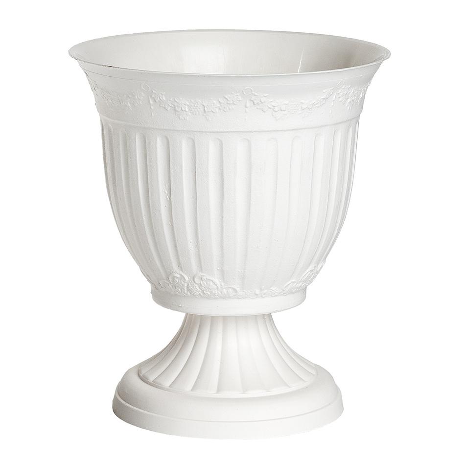 Vonkajší kvetináč Omega biela, 17 cm
