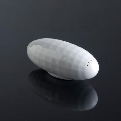 Slánka Zeppelin 12 cm, bílá