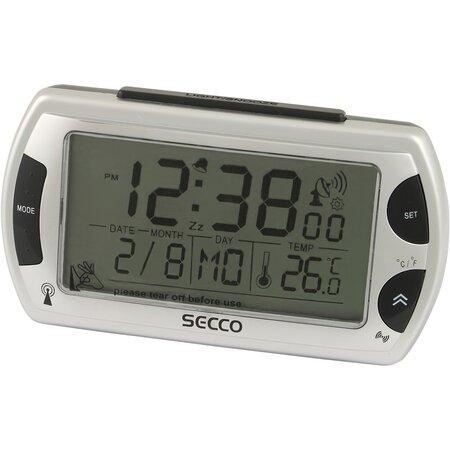 SECCO S R358RC-01 (572) Digitální budík, stříbrná