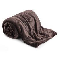 XXL takaró / ágytakaró, sötétbarna, 200 x 220 cm