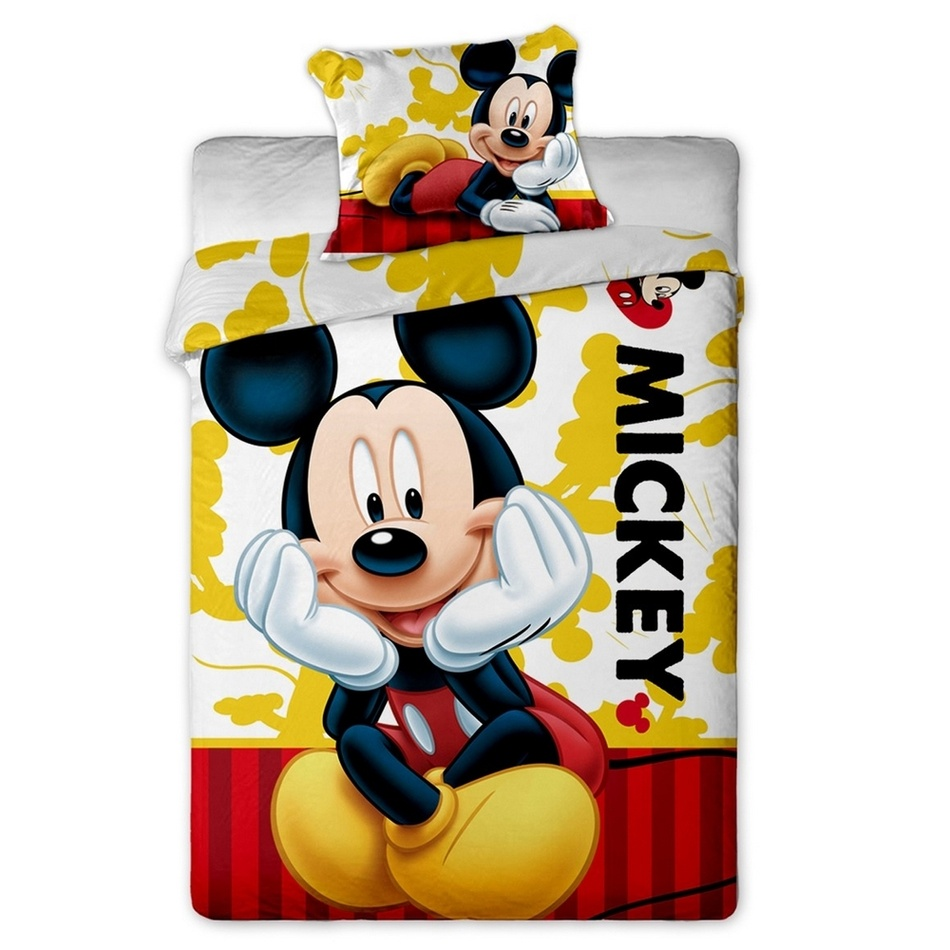 Jerry Fabrics Dětské bavlněné povlečení Mickey 2015, 140 x 200 cm, 70 x 90 cm