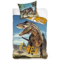 Lenjerie de pat din bumbac Tyranosaurus Rex, 140 x 200 cm, 70 x 90 cm
