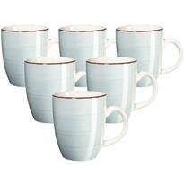 Set căni ceramice Mäser Bel Tempo 380 ml, 6 buc., albastru deschis