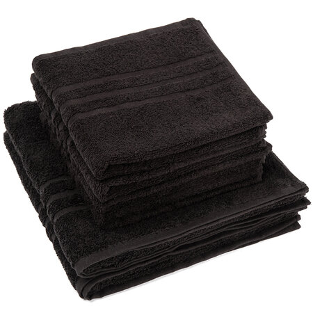 Sada ručníků a osušek Classic černá, 4 ks 50 x 100 cm, 2 ks 70 x 140 cm