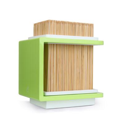 Bambusový stojan na nože Fakir 17 x 20 cm, zelený
