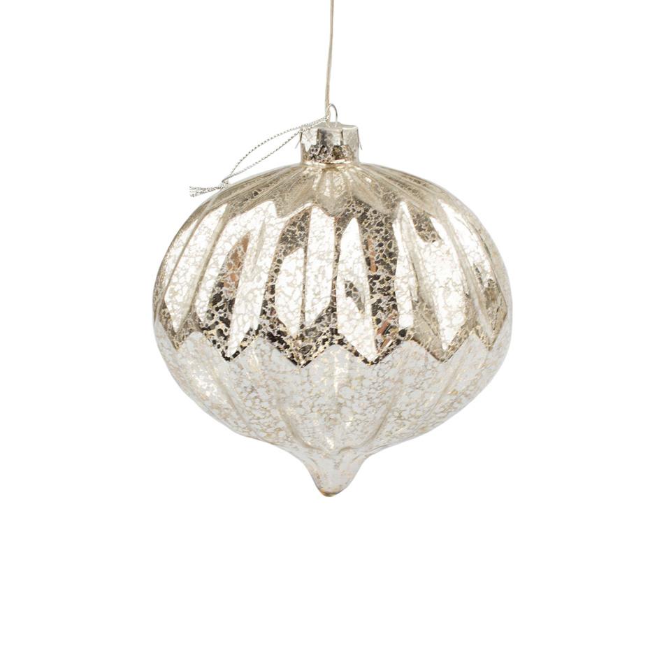 Vánoční svítící ozdoba Lavello, stříbrná
