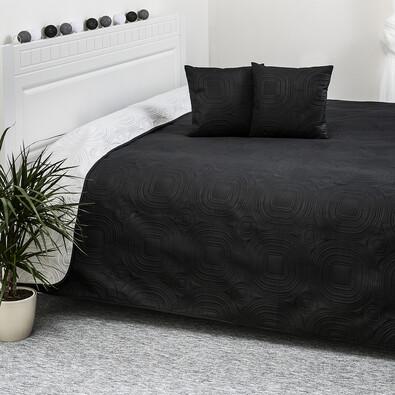 4Home prehoz na posteľ Doubleface biela/čierna, 220 x 240 cm, 2x 40 x 40 cm