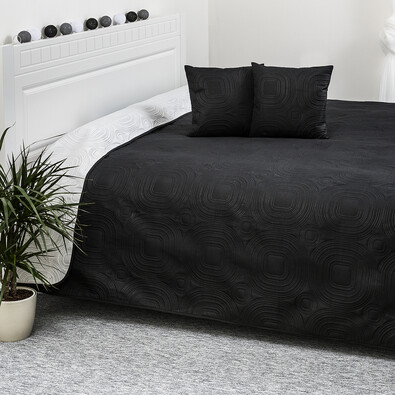 Cuvertura reversibilă 4Home Doubleface, alb/negru,220 x 240 cm, 2x 40 x 40 cm