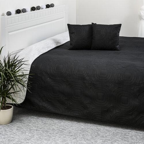 4Home přehoz na postel Doubleface bílá/černá, 220 x 240 cm, 2x 40 x 40 cm