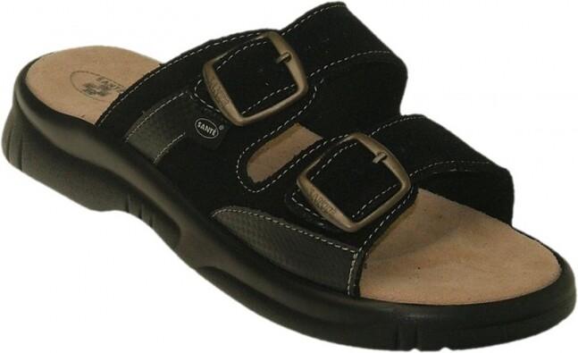 Pánske zdravotné papuče, čierna, 42