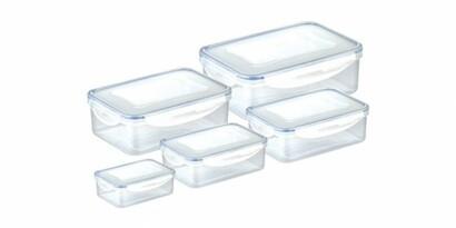 Tescoma FRESHBOX téglalap alakú ételtároló doboz, 5db