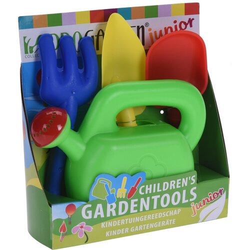 Gyermek kerti szerszámok kannával, 4 db-os