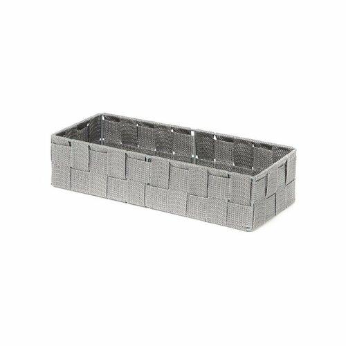 Compactor Úložný organizér do zásuvky Compactor TEX - košík L, 30 x 12 x 7 cm, sivý