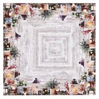 Gyertyatartók karácsonyi abrosz, 85 x 85 cm