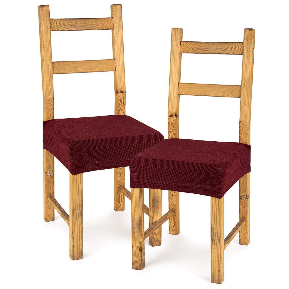 4Home Pokrowiec multielastyczny na krzesło Comfort bordó, 40 - 50 cm, 2 szt.