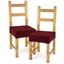 4Home Comfort multielasztikus székhuzat, bordó, 40 - 50 cm, 2 db-os szett