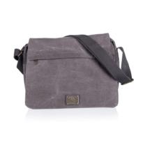Outdoor Gear Canvas notebook táska, szürke, 35 x 25 x 12 cm