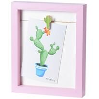 Ramka na fotografię Mackay różowy, 19 x 23 cm