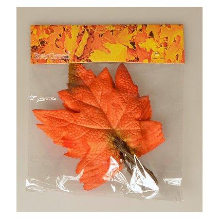 Jesenná dekorácia Javorový list 14 x 12 cm, 10 ks