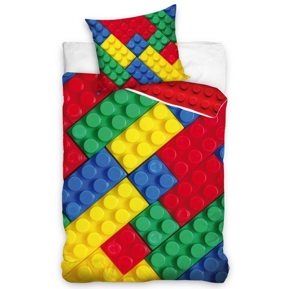 BedTex Detské bavlnené obliečky Lego, 140 x 200 cm, 70 x 90 cm