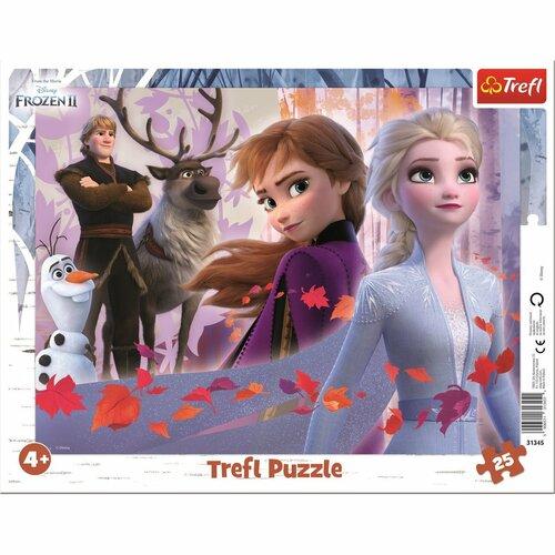 Puzzle Trefl Regatul de gheață Aventuri, 25 piese