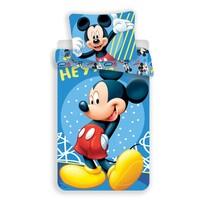 Lenjerie de pat copii Jerry Fabrics Mickey 043, din bumbac, 140 x 200 cm, 70 x 90 cm