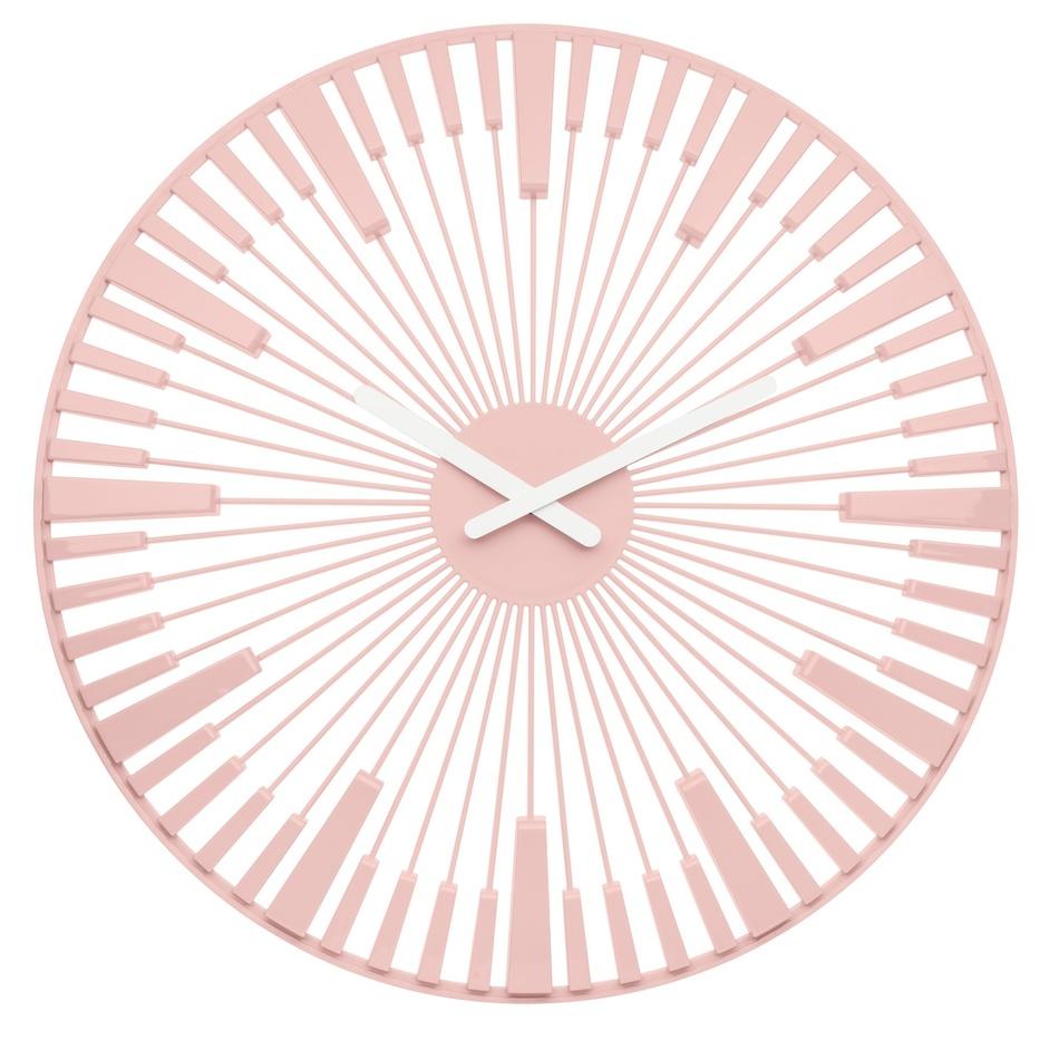 Koziol Nástěnné hodiny Piano růžová, pr. 45 cm