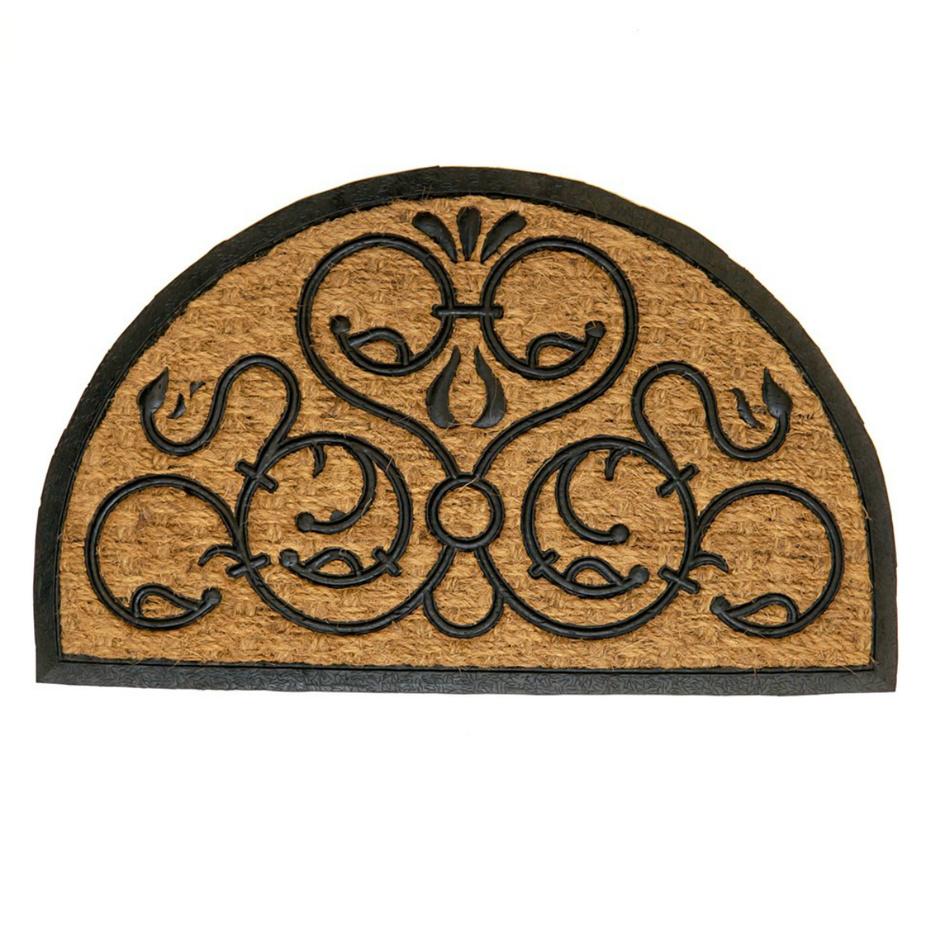 Fave Venkovní rohožka Exotic 3 půlkruh, 45 x 75 cm,